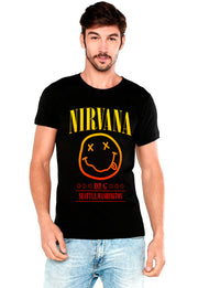 PLAYERA NIRVANA CARITA CON EFECTOS DE COLOR