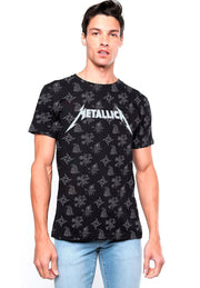 PLAYERA FULL PRINT METALLICA LOGOS