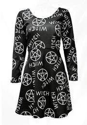 VESTIDO CON ESTAMPADO WITCH