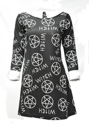 VESTIDO MORTY  CON ESTAMPADO WITCH