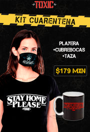 KIT BLUSA TOXIC STAY HOME PLEASE + TAZA TOXIC STAY HOME PLEASE