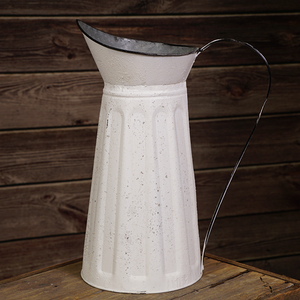 White Pitcher 15""