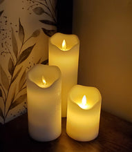 Load image into Gallery viewer, LED White Pillar Candle- Asst sizes