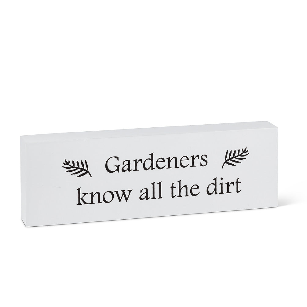 "Rectangle ""Gardeners Know…"" Block"