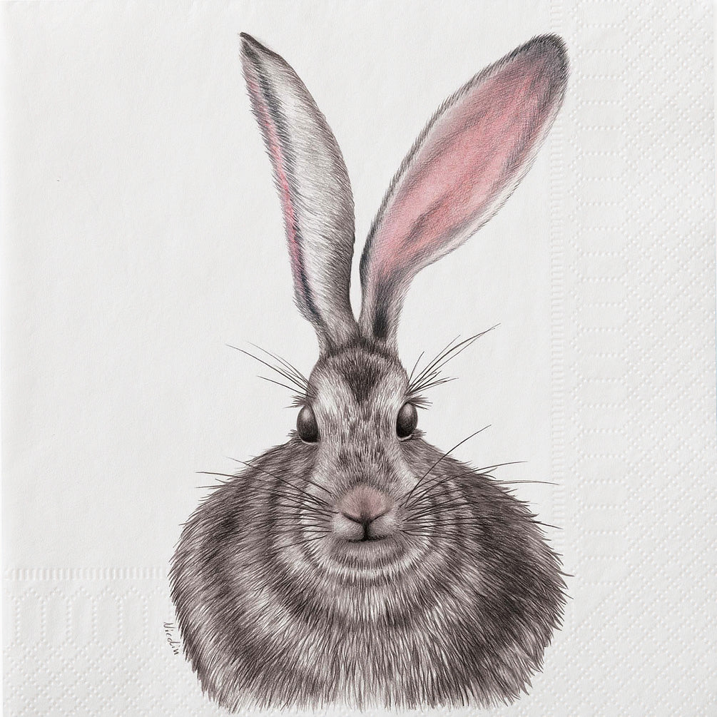 Large Henrietta Hare Napkins. 20 Pack