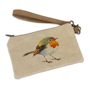 Bird Zip Pouch with Strap