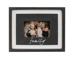 6x4 Black Distressed Frame- Family