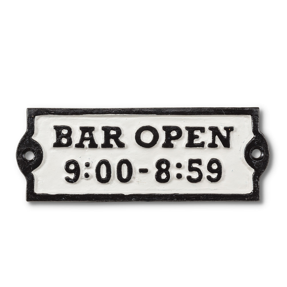 "Rectangle ""Bar Open"" Sign"