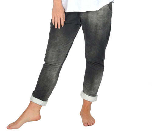 CLW Comfy Pull on Pant Black Jean