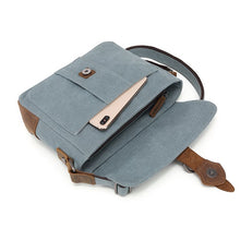 Load image into Gallery viewer, DaVan Canvas Shoulder Bag with Leather trim