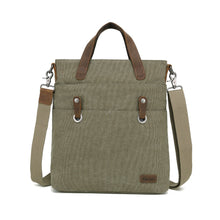 Load image into Gallery viewer, DaVan Canvas Tote with Leather Trim