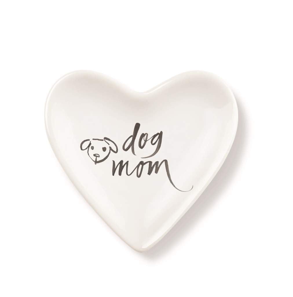 Dog Mom Tiny Heart Cer.Tray