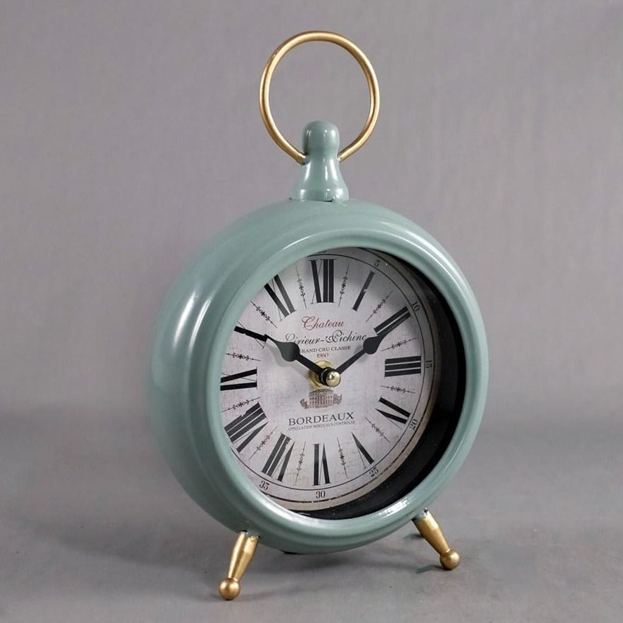 GREEN RETRO TABLE CLOCK