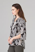Load image into Gallery viewer, Joseph Ribkoff Tunic Black,White & Tan