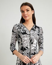 Load image into Gallery viewer, Joseph Ribkoff Front Zip Floral Dress