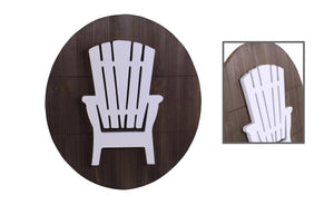 Oval Wooden Muskoka Chair Plaque