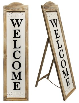 Welcome Sign Wood/Metal