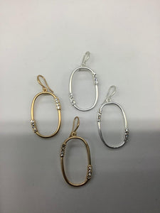Oval with R/S Earrings