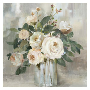 Canvas art - white flowers in a vase