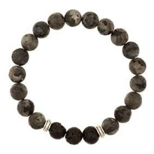 Load image into Gallery viewer, Lava Beads with Black Obsidian Stones