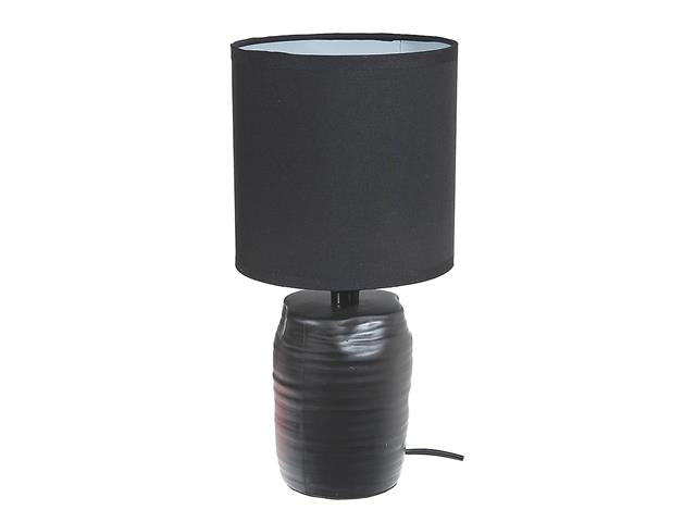 CERAMIC TABLE LAMP WITH SHADE-ASST COLORS