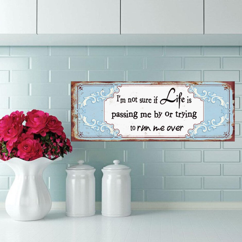 HANGING PLAQUE- I'm not sure Life