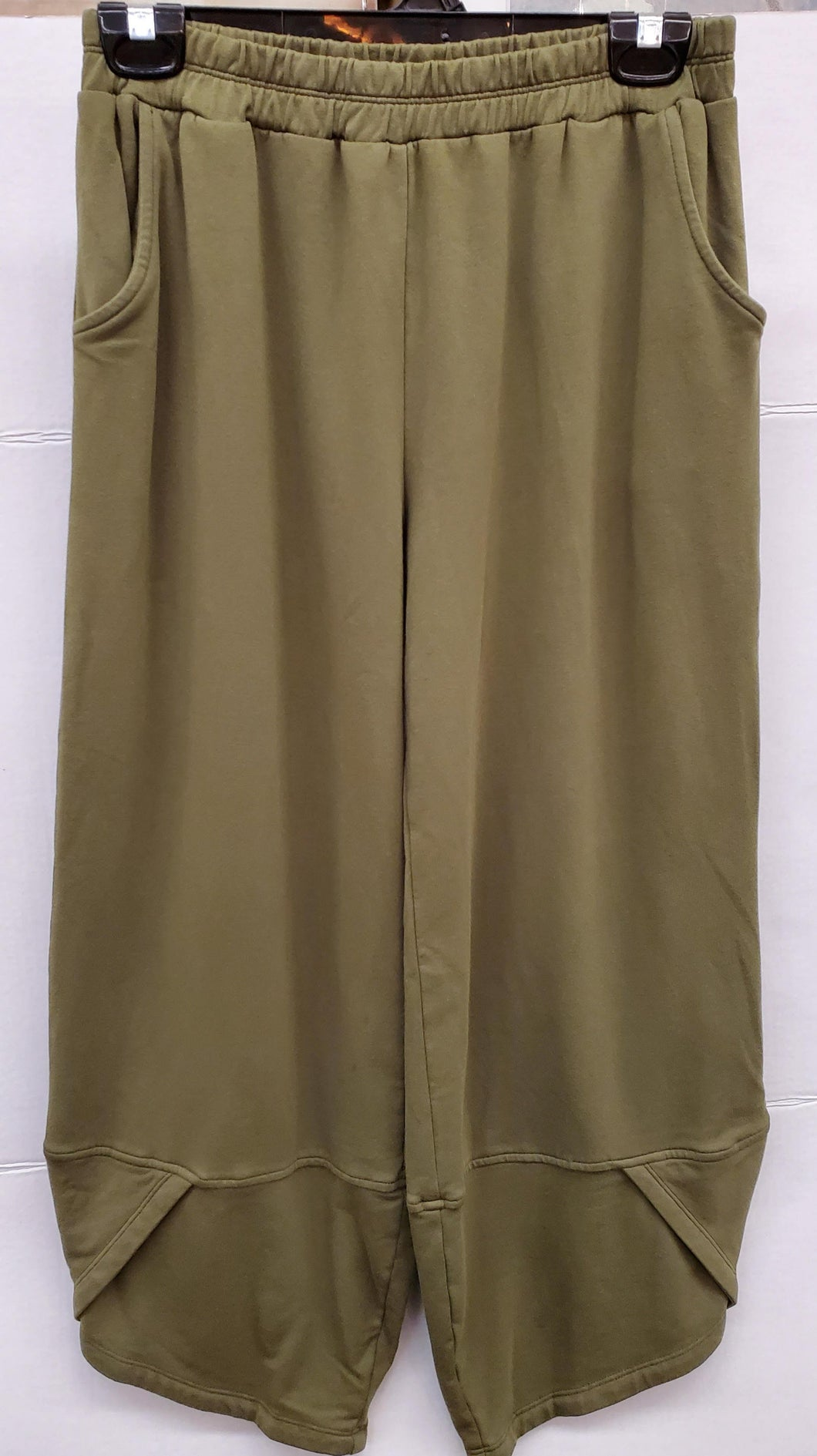 Focus Olive French Terry Flood Pants