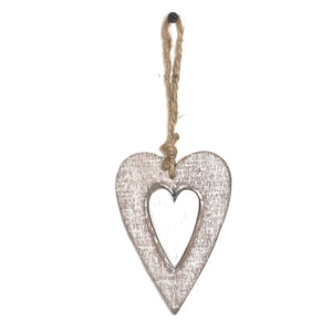 Wooden Heart Hanging Decoration