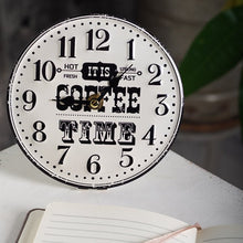Load image into Gallery viewer, Table Clock-Coffee Time