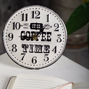 Table Clock-Coffee Time