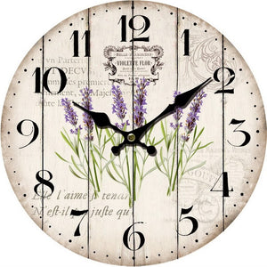 Lavender Plants Wall Clock