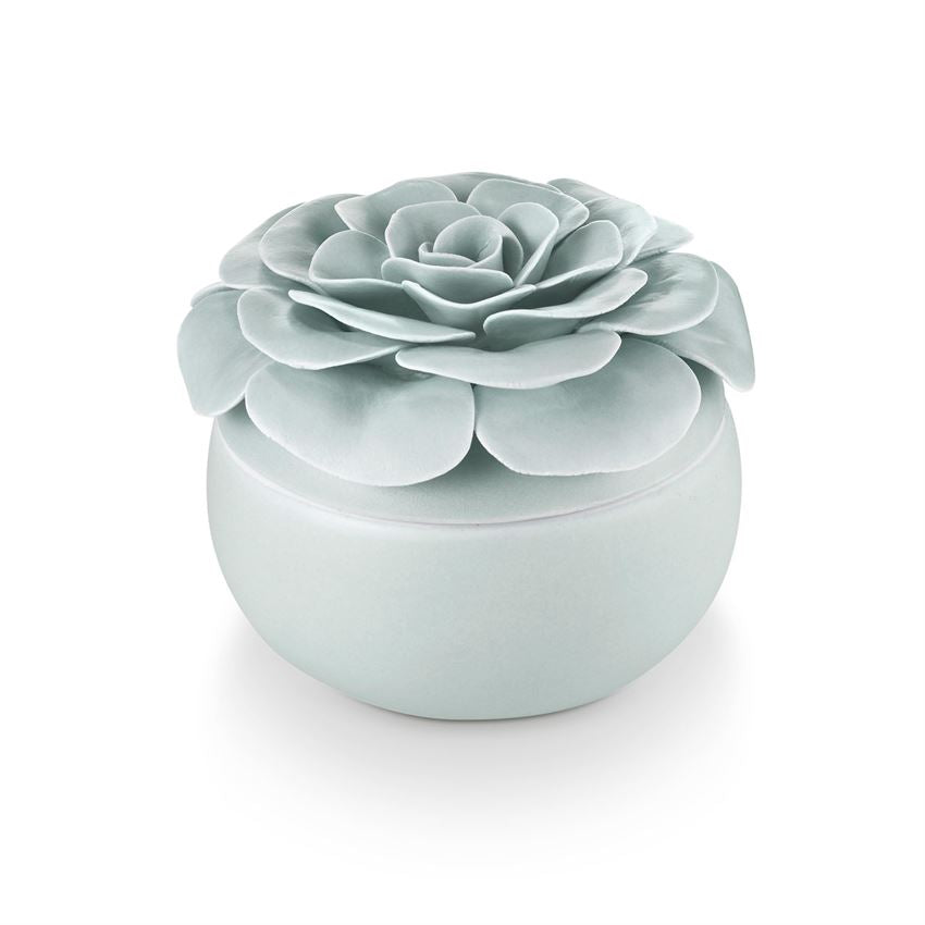 Ceramic Flower Candle - Fresh Sea Salt