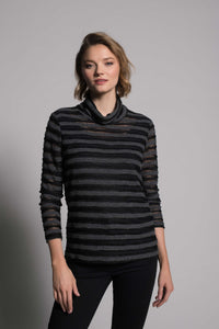 Picadilly Long Sleeve Turtleneck Top
