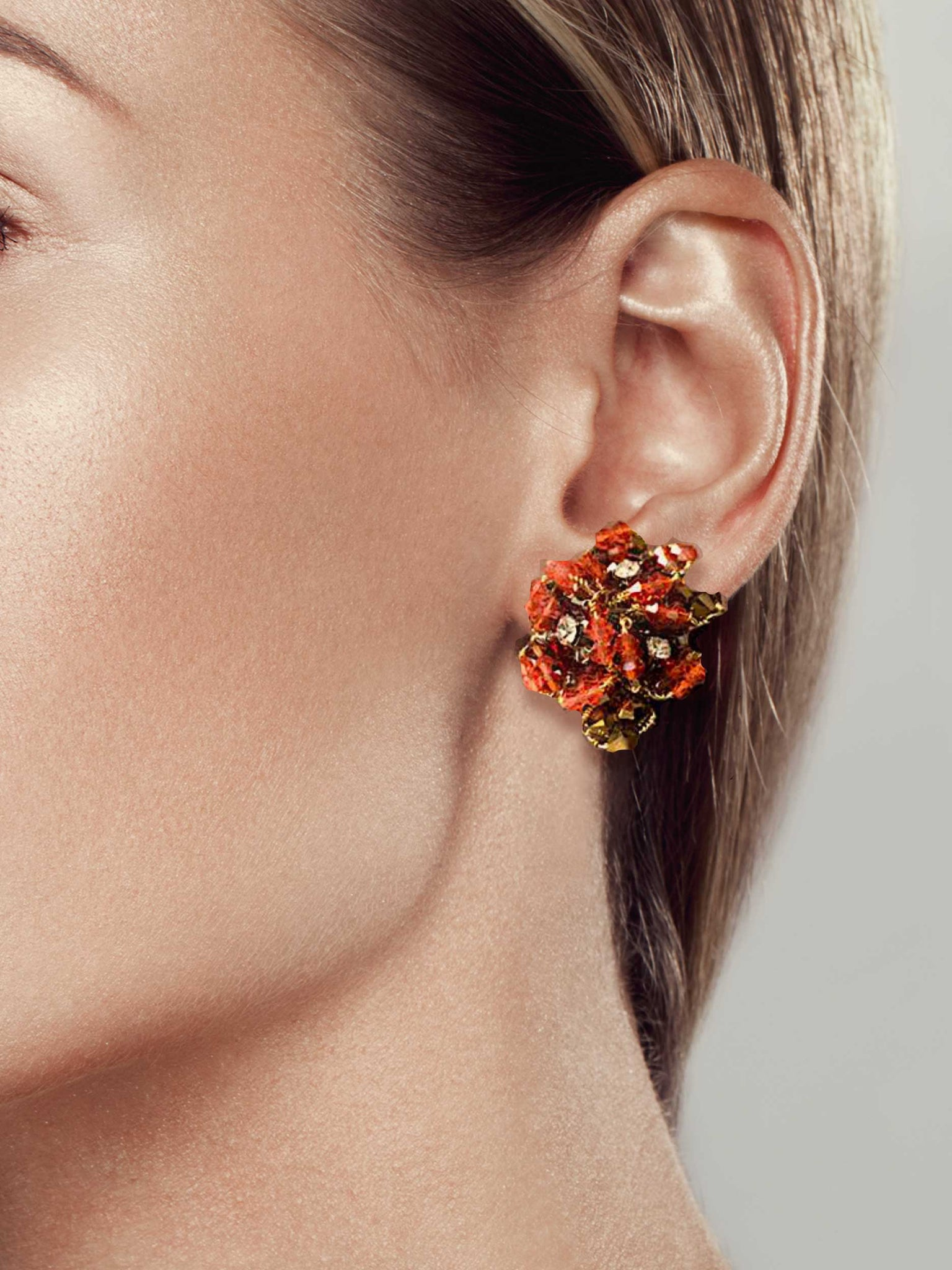Mindy Lam Collection NKF Tri-bud Earrings