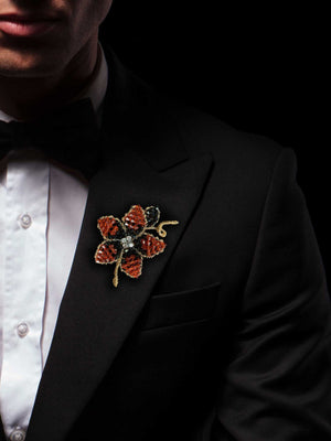 NKF Earring Lapel Pin Set