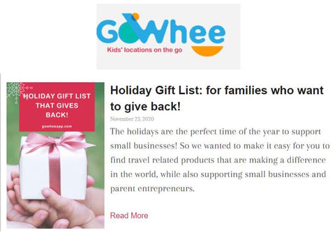 Sara Joy Go Whee App Holiday Gift Guide