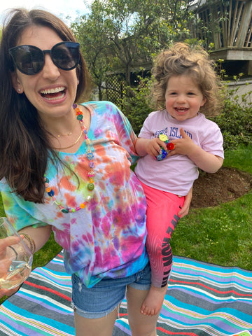 Toddler Tie Dye Results