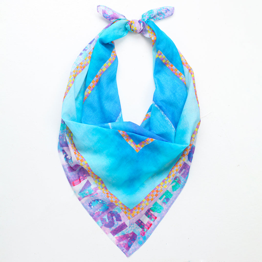 BLUE MANTRA SCARF