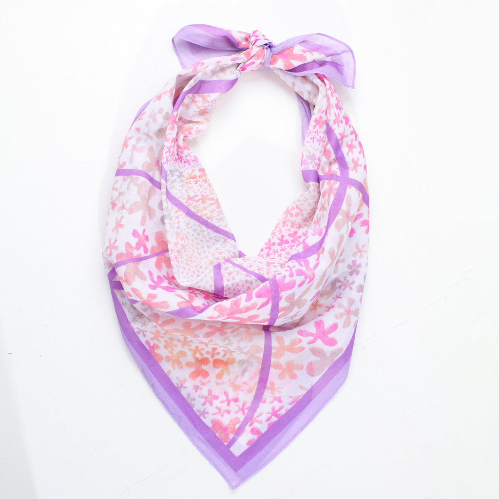EXHALE FLOWER SCARF