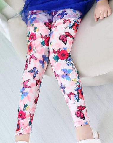 Butterfly floral pants