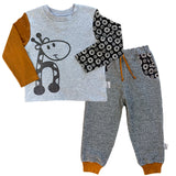 boys long sleeve top and matching track pants.