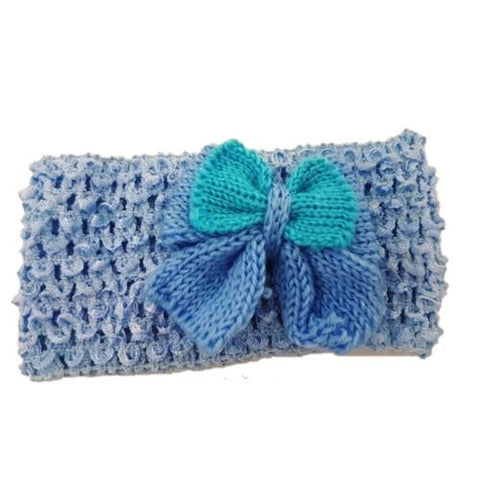 Headband with Crochet Bow Assorted Colours