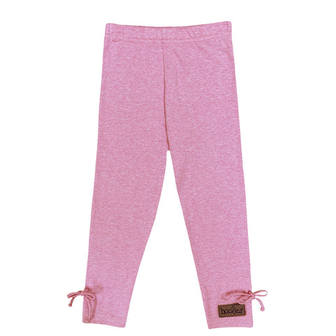 Pink bow leggings