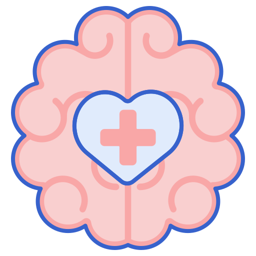 Brain With First Aid Symbol Icon