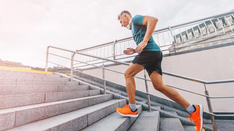 Make staircases your best friend - Workout routine for men at home
