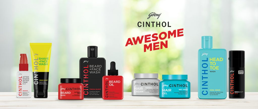 Beard & Hair Care Range - Cinthol Awesome Men