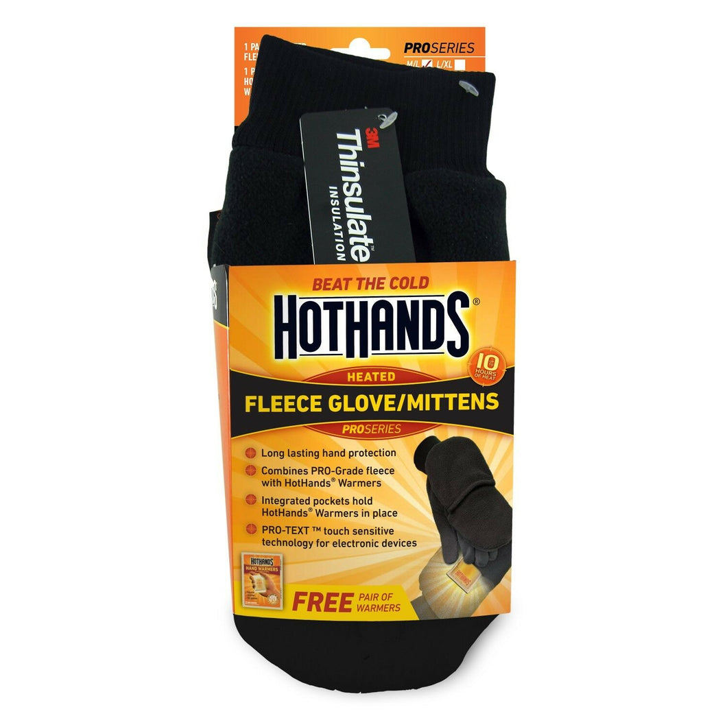 HotHands Fleece mitten includes a free warmers plus gives you PRO-TEX Tech touch