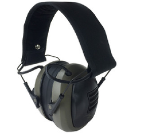 Tactical Electronic Earmuff protects from harmful noise and has input jack