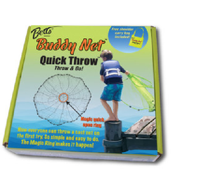 Kids casting net by Betts Quick Throw for young anglers to explore marine waters