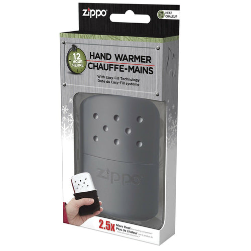 Zippo 12 hour odorless Hand Warmer provides gentle, consistent heat #40334
